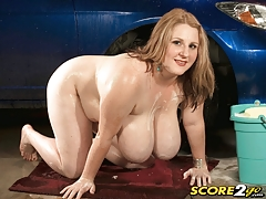 Soapy Boob Bombs At The Car Wash